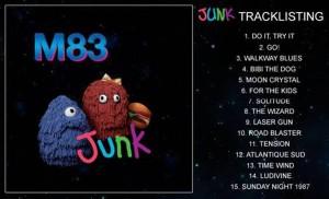 m83 junk tracklist