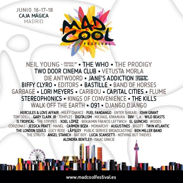 mad cool festival 2016 cartel