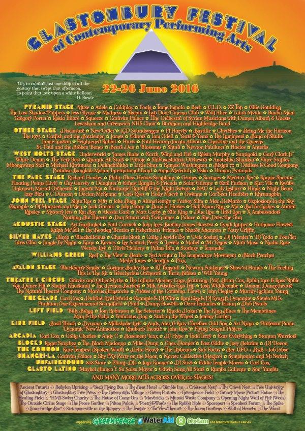 glastonbury 2016 cartel completo