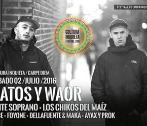 Cultura Inquieta 2016: el rap nacional se encuentra en Festival Carpe Diem