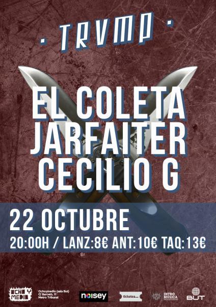 Trío de ases este sábado en Ochoymedio: El Coleta + Jarfaiter+ Cecilio G