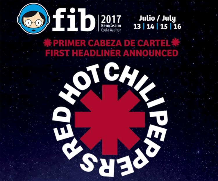 FIB 2017 abre su cartel con Red Hot Chili Peppers
