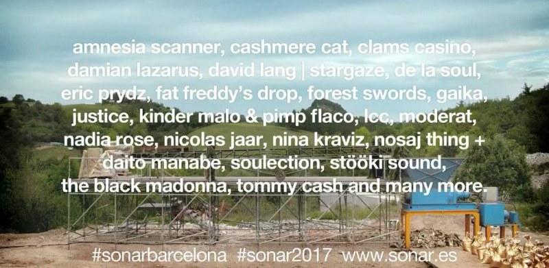Sónar Festival 2017: cartel, confirmaciones, rumores y entradas