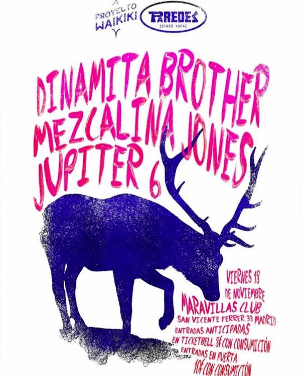 Proyecto Waikiki, el trío de la noche: Dinamita Brother, Mezcalina Jones y Jupiter 6
