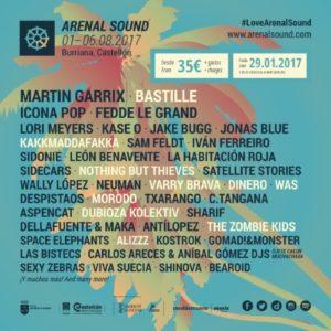 arenal sound 2017 cartel