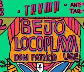 Bejo + Locoplaya, concierto en Ochoymedio (Ciclo TRVMP)