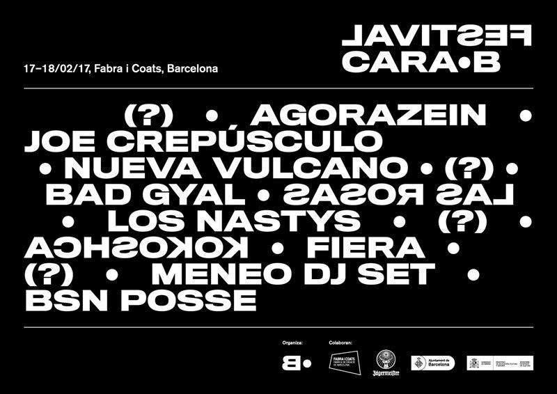 El Festival Cara·B 2017 anuncia sus primeras confirmaciones: Agorazein, Joe Crepúsculo, Los Nastys...