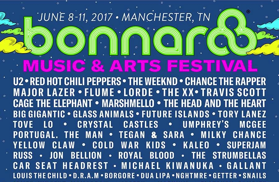 Bonnaroo 2017: cartel completo con U2, Red Hot Chili Peppers...