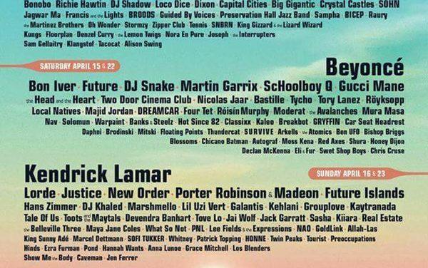 Este es el espectacular cartel del Coachella 2017