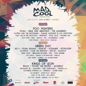 mad cool festival 2017 cartel