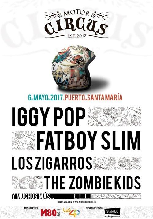 Motor Circus 2017: Iggy Pop y Fatboy Slim se enamorarán de El Puerto de Santa María