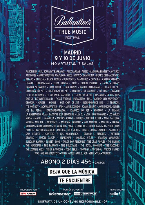 ballantines true music festival 2017 cartel