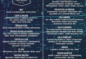 Distribución por salas del Ballantine's True Music Festival 2017