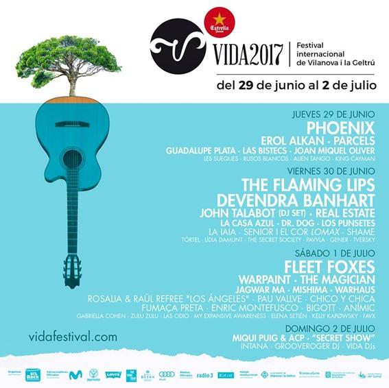 vida festival 2017 cartel