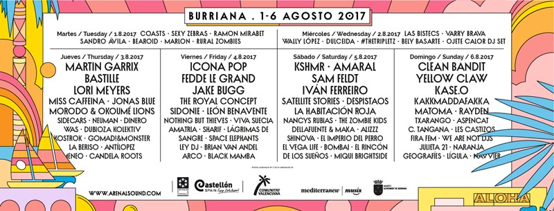 arenal sound 2017 cartel