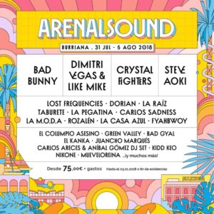 arenal sound 2018 cartel