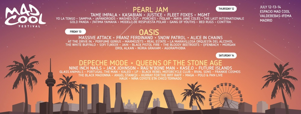 mad cool 2018 oasis
