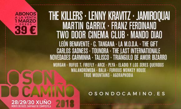 Festival O Son Do Camiño 2018: confirmaciones, cartel y entradas