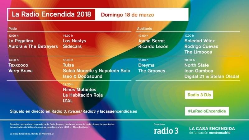 La radio encendida 2018 conciertos y horarios wake and for La casa encendida telefono