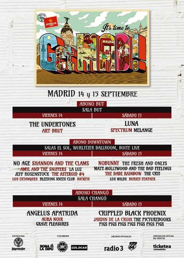 getmad festival 2018 cartel dias