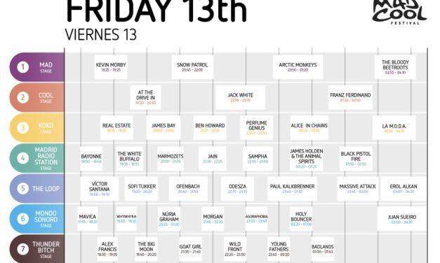 Mad Cool Festival 2018 anuncia sus horarios