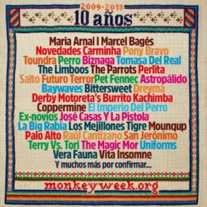 monkey week 2018 confirmaciones