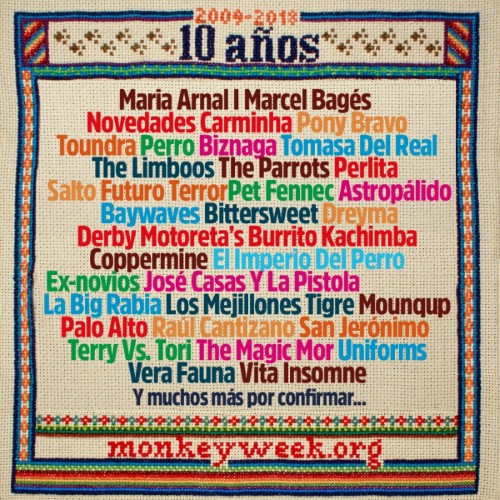 monkey week 2018 confirmaciones