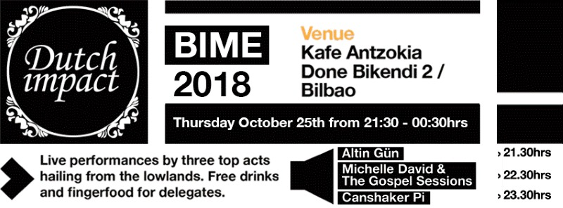 bime live 2018 bandas holandesas