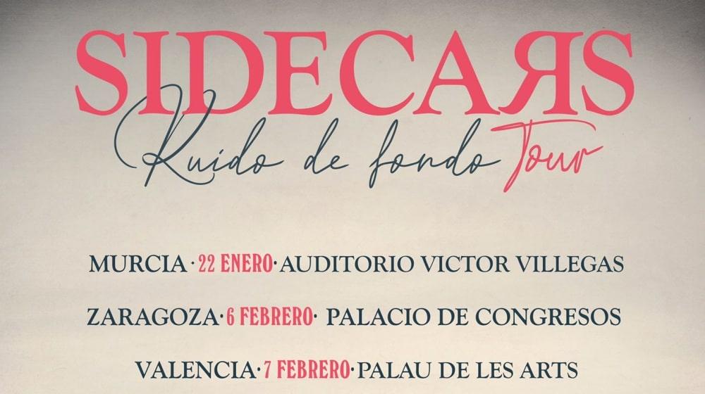Conciertos de Sidecars en España – 2021 – Entradas Ruido de Fondo Tour