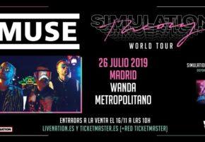 Concierto de Muse en Madrid - 2019 - Entradas