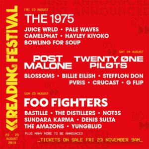 reading festival 2019 cartel