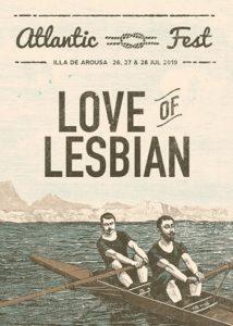 Love Of Lesbian confirmación del Atlantic Fest 2019