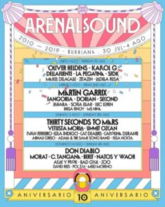 arenal sound 2019 cartel