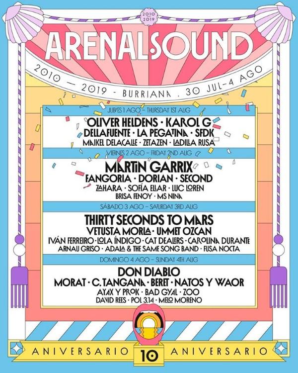 arenal sound 2019 cartel