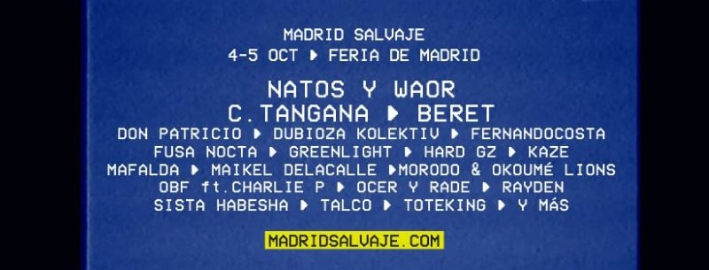 madrid salvaje 2019 cartel