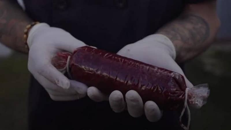 morcilla sangre humana