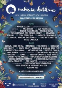 noches del botanico 2019 cartel
