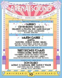 arenal sound 2019 cartel dias