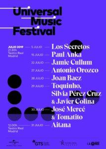universal music festival 2019 cartel conciertos