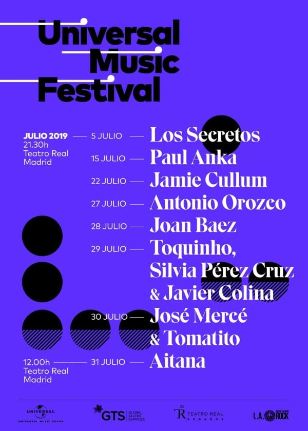 universal music festival 2019 cartel conciertos