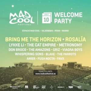 mad cool 2019 welcome party julio
