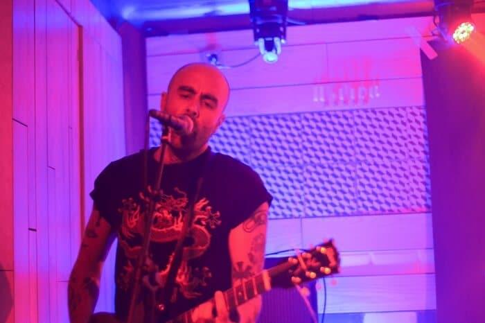 Guitarra de La Urss en concierto