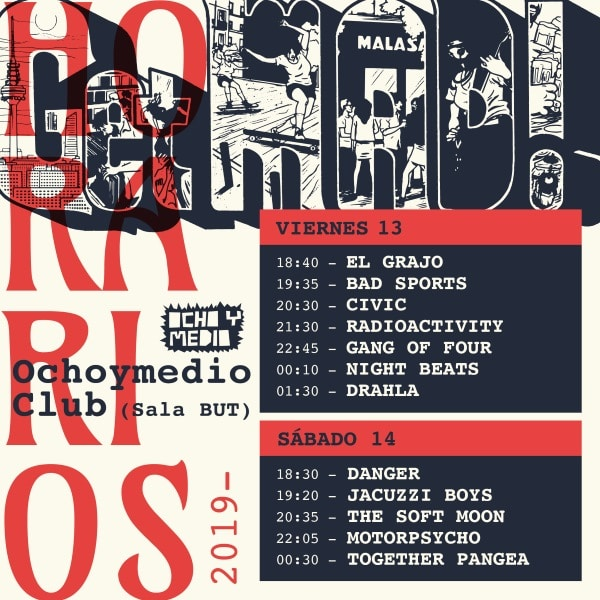 getmad festival 2019 horarios