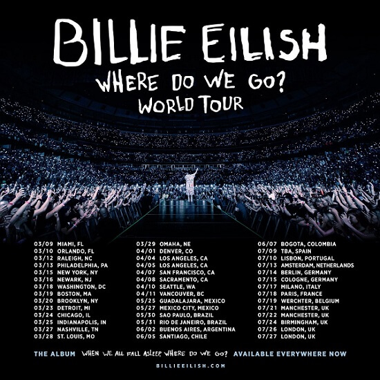 Gira de Billie Eilish en el 2020