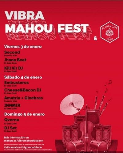Cartel del Vibra Mahou Fest León 2020