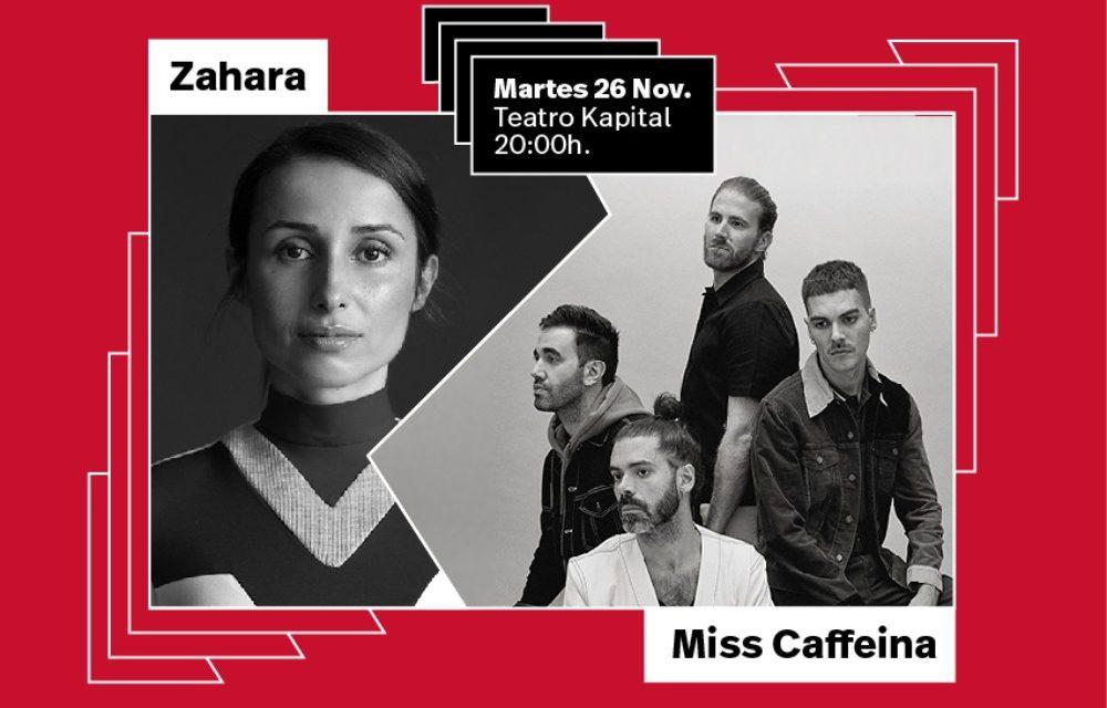 Zahara y Miss Caffeina clausuran Cómplices de Vibra Mahou 2019