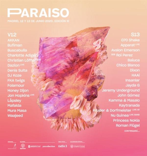 paraiso festival 2020 cartel