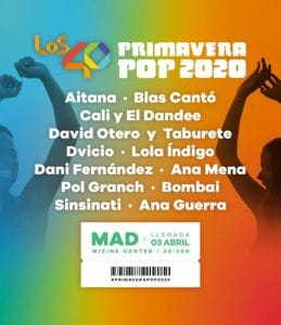 primavera pop 2020 cartel