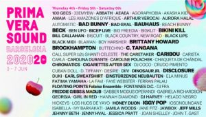 primavera sound 2020 cartel