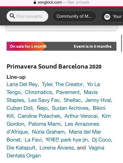 primavera sound 2020 filtracion